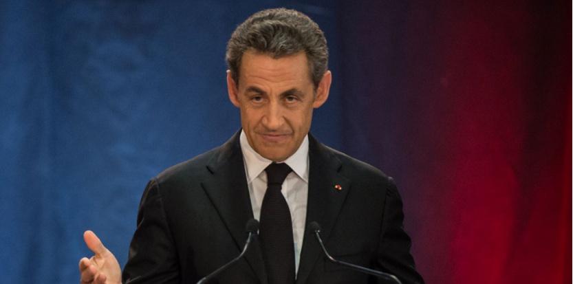 Nicolas Sarkozy lors de son premier meeting à Lambersart (Nord), jeudi 25 septembre 2014. (PHILIPPEHUGUEN/AFP)