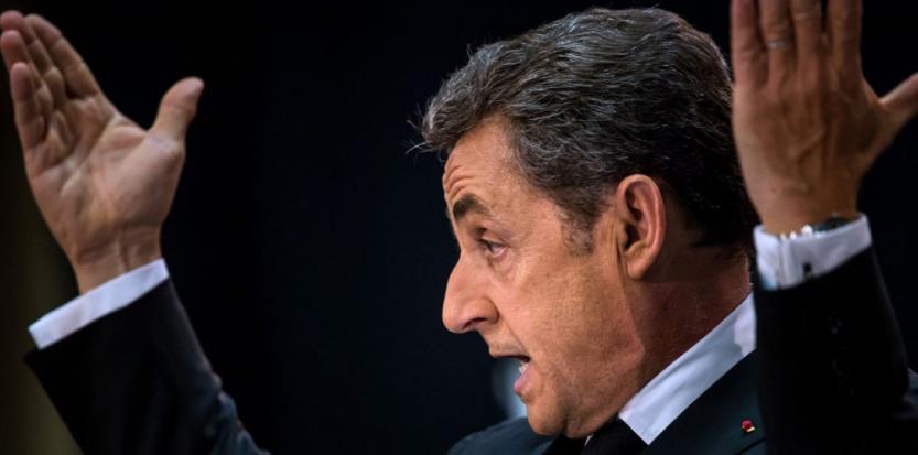 Nicolas Sarkozy lors de son meeting de retour, jeudi 25 septembre, dans le Nord (Philippel Huguen - AFP)