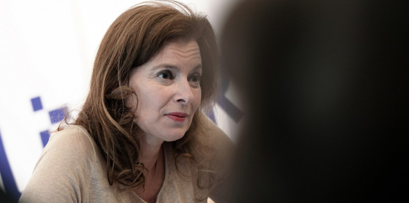 Valérie Trierweiler lors d'une séance de dédicace en octobre 2014 (FREDERICK FLORIN / AFP)