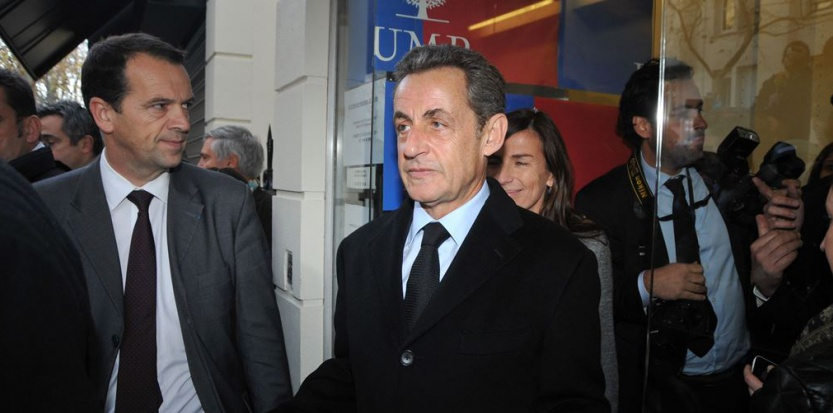 Nicolas Sarkozy après sa victoire à la présidence de l'UMP samedi 29 novembre CAU ANTOINE/SIPA