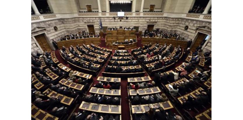 Vue générale du parlement grec, le 29 décembre 2014 à Athènes  (c) Afp