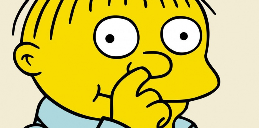 Ralph Wiggum, célèbre personnage des Simpson, est surtout connu pour sa fâcheuse propension à se curer le nez à longueur d'épisode. ©Archives du 7eme Art / Photo12