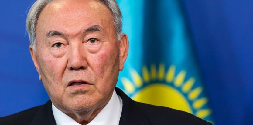 Le président Kazakh Noursoultan Nazarbaïev, en 2014 (Geert Vanden Wijngaert/AP/SIPA)