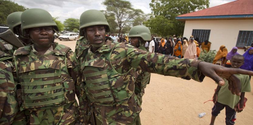 Des soldats kenyans le 4 avril 2015. (Ben Curtis/AP/SIPA)