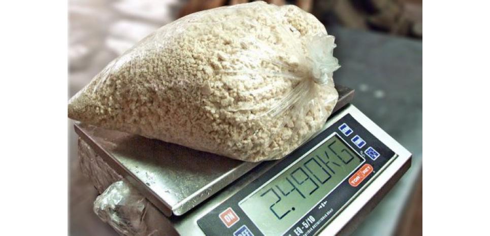"""Les douanes françaises ont effectué une saisie """"historique"""" d'une quantité de cocaïne estimée à 2,25 tonnes dans un voilier au large de la Martinique (c) Afp"""