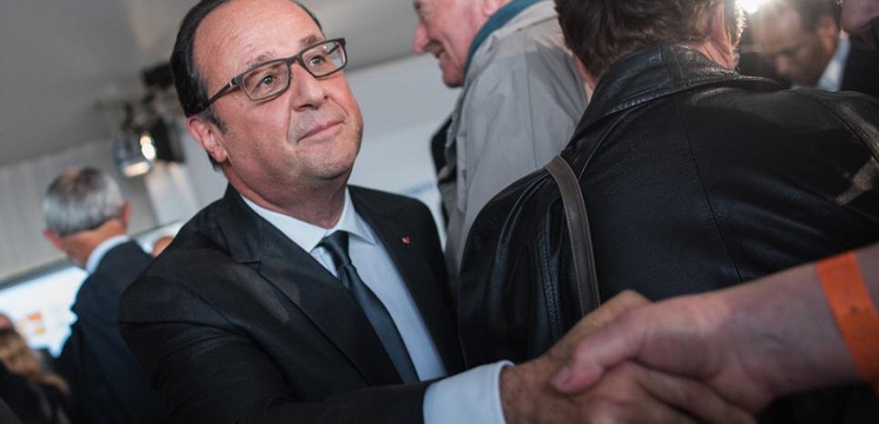 François Hollande en visite à Tulle, en Corrèze, vendredi 18 septembre. (Sipa)