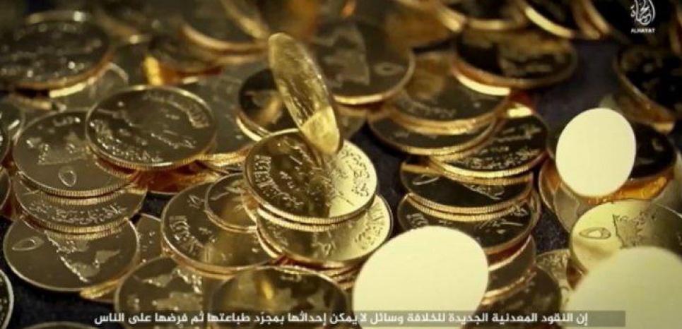 Les dinars d'or de l'Etat islamique sont en circulation depuis juin 2015. Capture d'écran vidéo de l'EI
