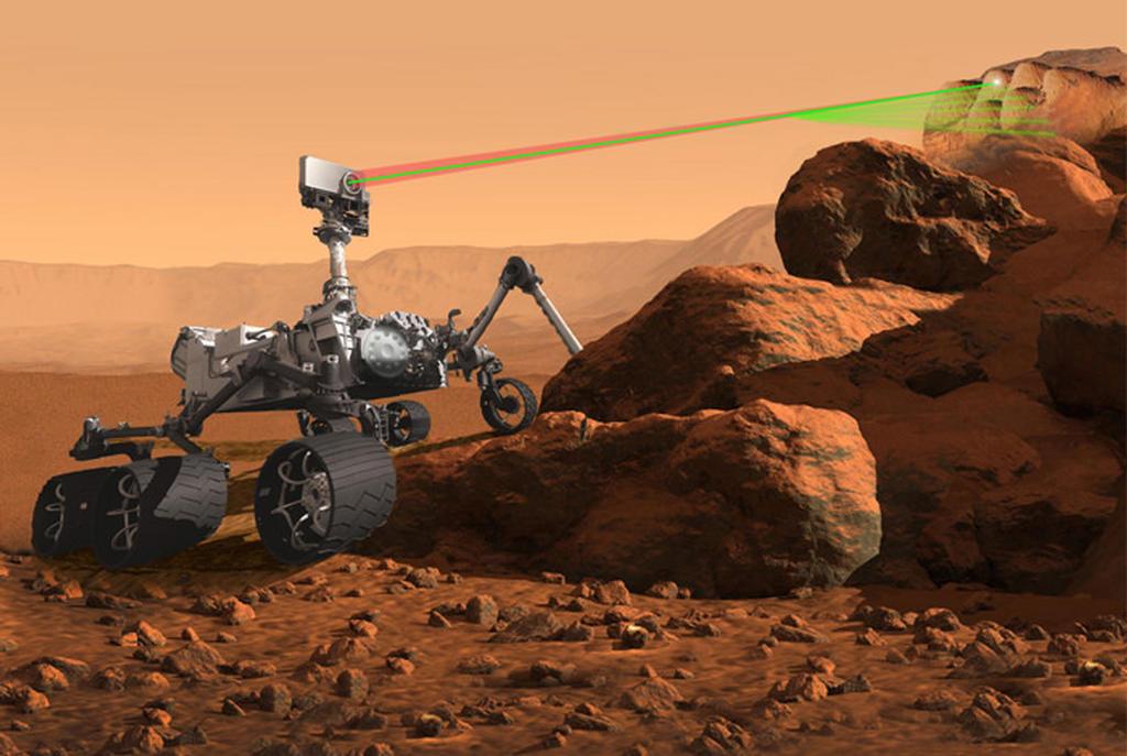 Vue d'artiste du rover de la mission Mars 2020.