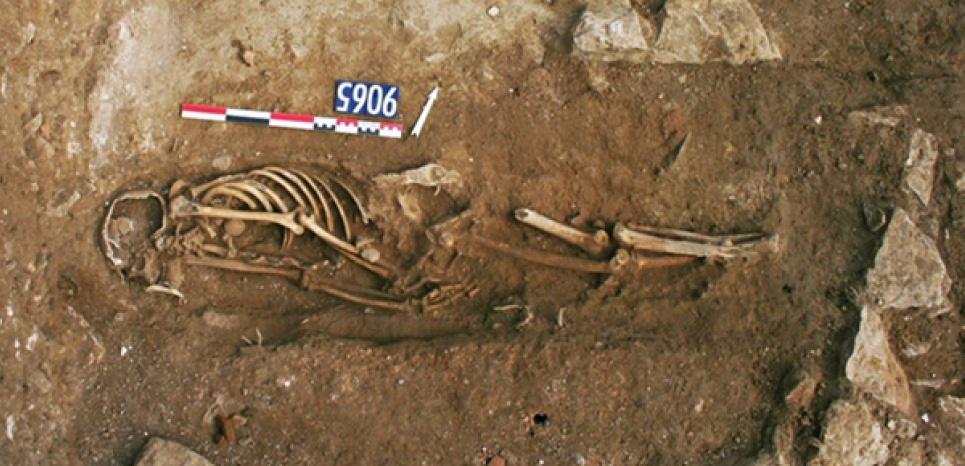 L'une des 3 tombes musulmanes découvertes à Nîmes. ©Inrap