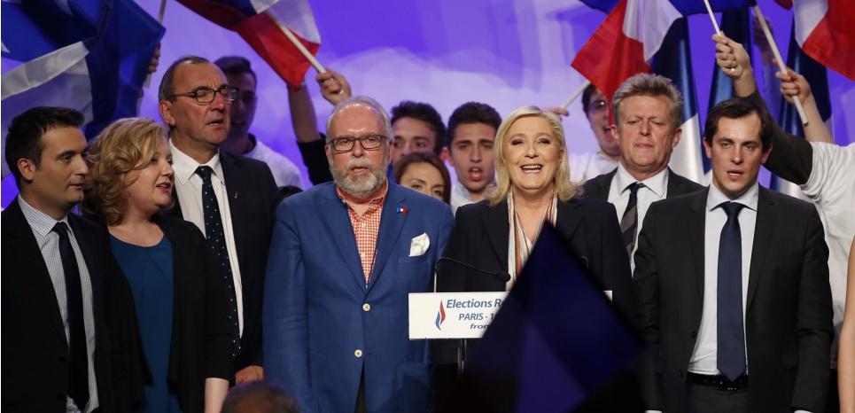 L'Etat major du Front National est mis en cause dans la synthèse de l'enquête de police sur le financement des campagnes électorales de l'extrême droite. (c) AFP