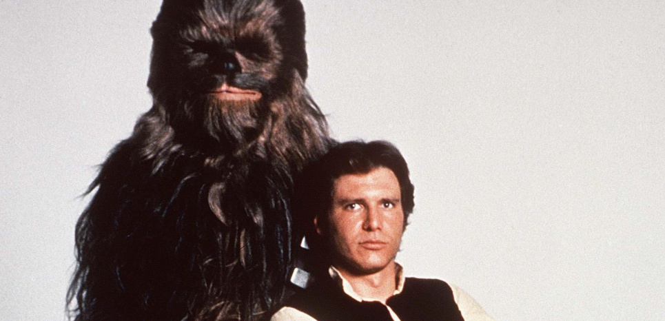 Les Montaigne et La Boétie de Star Wars : Chewbacca et Han Solo, en 1977. MayThe4thBeWithYou ©NANA PRODUCTIONS/SIPA