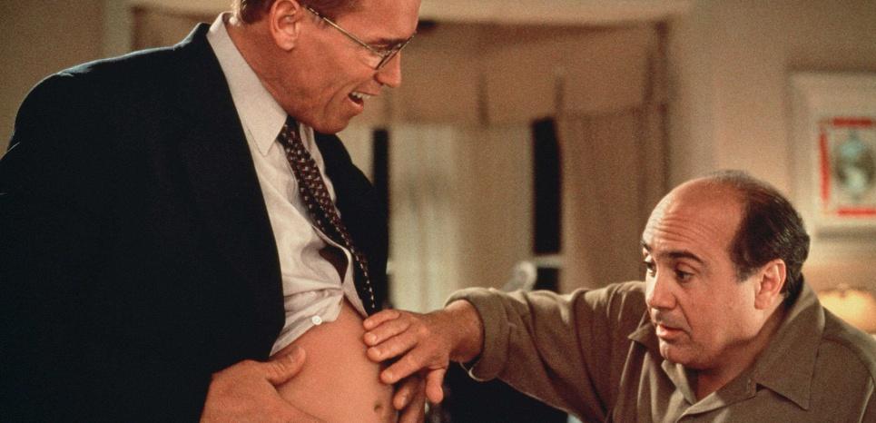 Extrait du film Junior, avec Arnold Schwarzenegger. © WEBER ANITA/SIPA