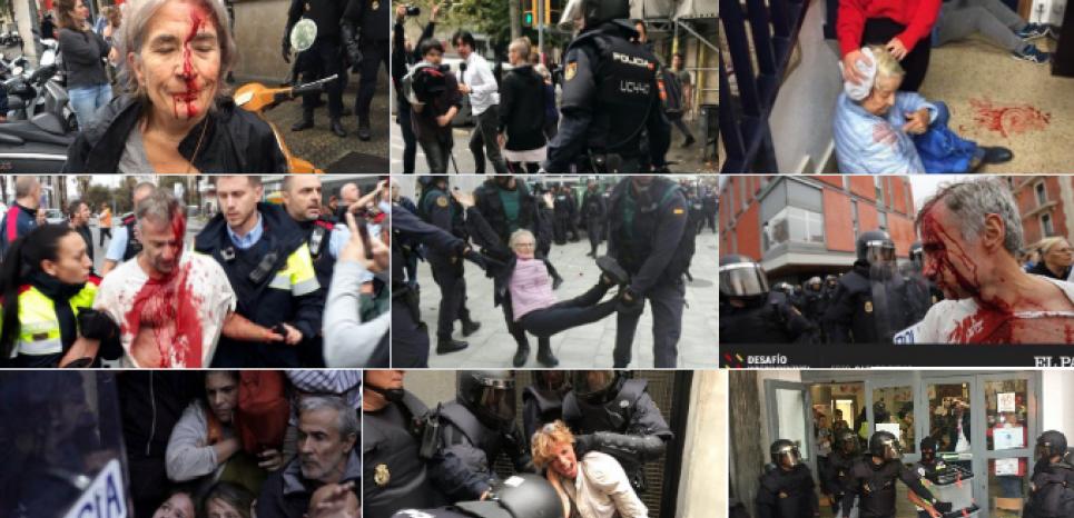 """Résultat de recherche d'images pour """"catalogne indépendance violence"""""""
