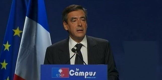 François Fillon, lors de son discours de clôture du Campus UMP (Capture d'écran)