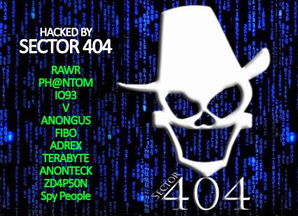 Le logo de Sector 404 sur Twitter (Capture d'écran)
