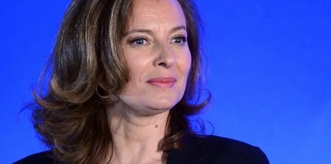Valérie Trierweiler, à Tulle, après l'élection de François Hollande, le 6 mai 2012. (PHILIPPE DESMAZES/AFP)