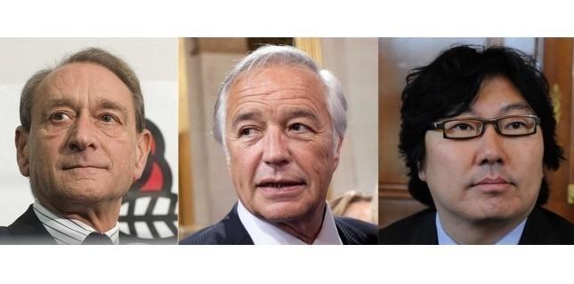 Betrand Delanoë, François Rebsamen et Jean-Vincent Placé : trois absents du gouvernement. (Photomontage/Sipa)