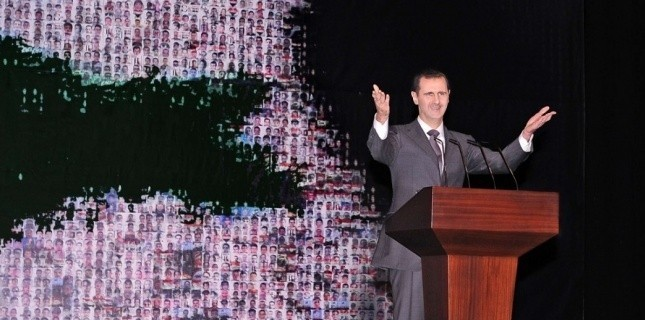 Bachar al-Assad s'apprêtrait à briguer un nouveau mandat en 2014. (HOPD/AP/SIPA)