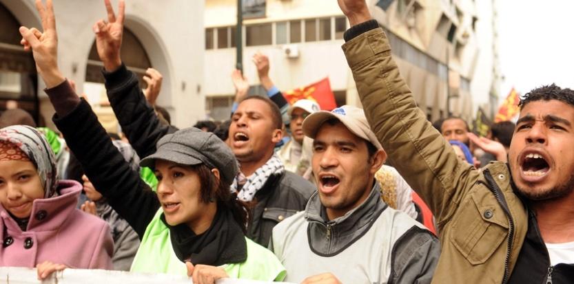 A Rabat, le 31 mars, des manifestants réclament plus de libertés publiques. (AFP /FADEL SENNA)