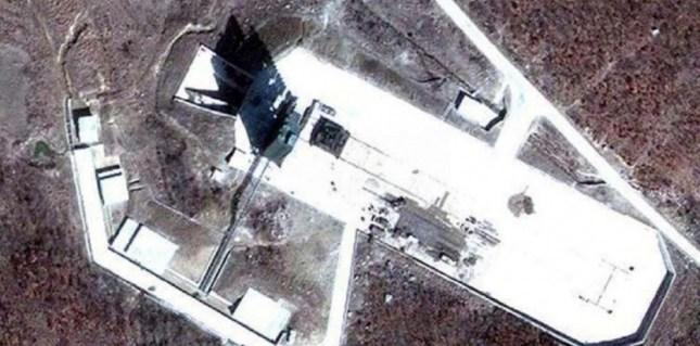 Le site comprenant les missiles Musudan vu par image satellite, le 12 décembre 2012. (HO/EPN/NEWSCOM/SIPA)