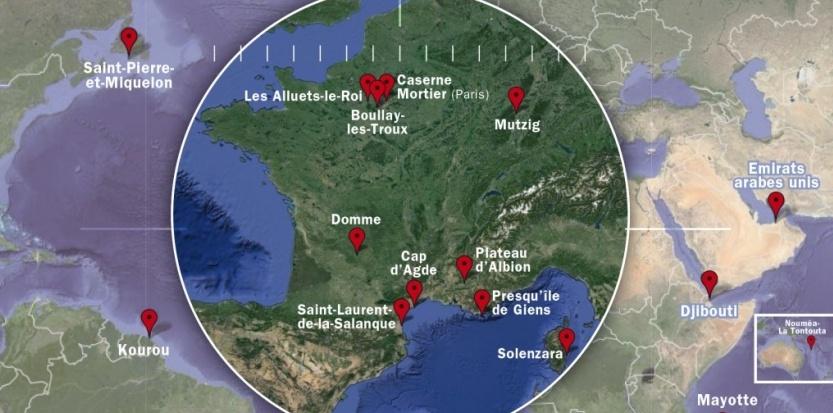 Le réseau de stations d'écoute de la DGSE, surnommé Frenchelon. (DR)