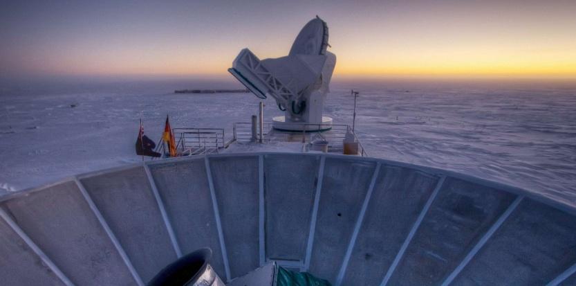 Le télescope BICEP2, au pôle sud. Steffen Richter/AP/SIPA