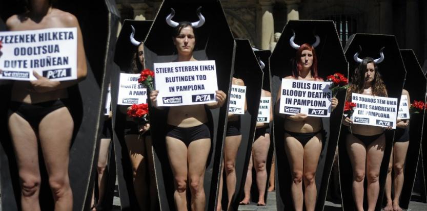 Manifestation Peta contre les corrida