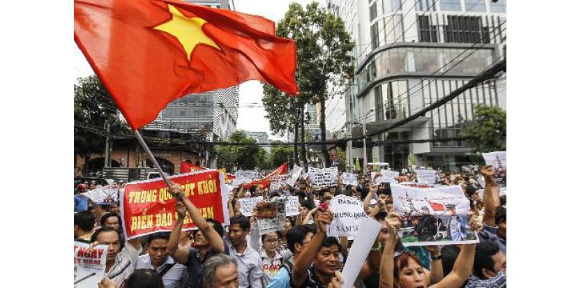 Une manifestation anti-chinoise à Ho Chi Minh-Ville, le 11 mai 2014 (c) Afp