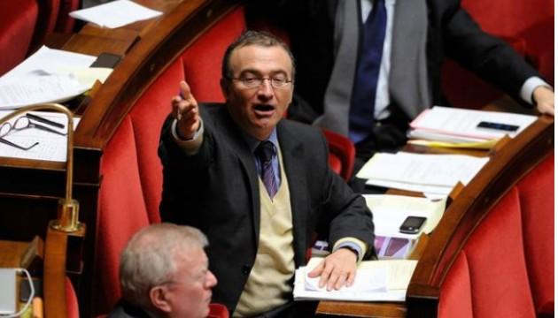 Le député Hervé Mariton durant le débat sur le mariage pour tous, à Paris le 3 février 2013. (Witt/Sipa)