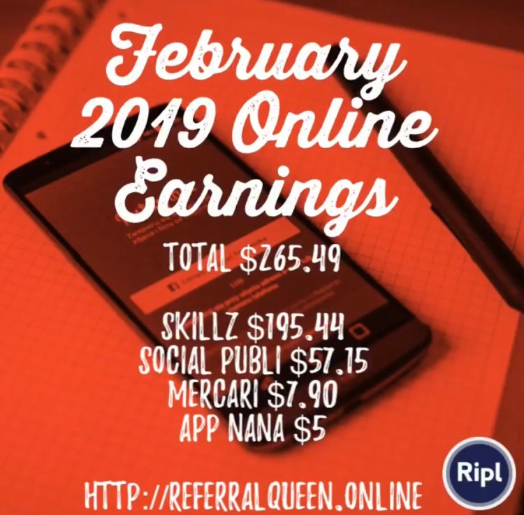 February 2019 Online Earnings : $265 49 - I Make Money