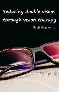 reducing double vision through vision therapy pin