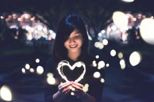Be kind, girl with heart