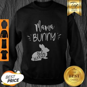 Awesome Mama Bunny Cute Easter Pregnancy Announcement V-Neck