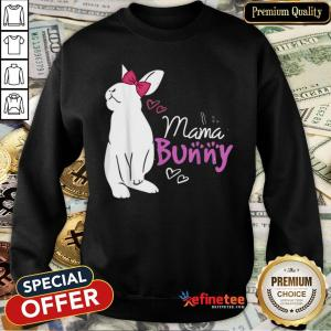Original Cute Mama Bunny Gift Design Family Easter Gift Sweatshirt- Design By Refinetee.com