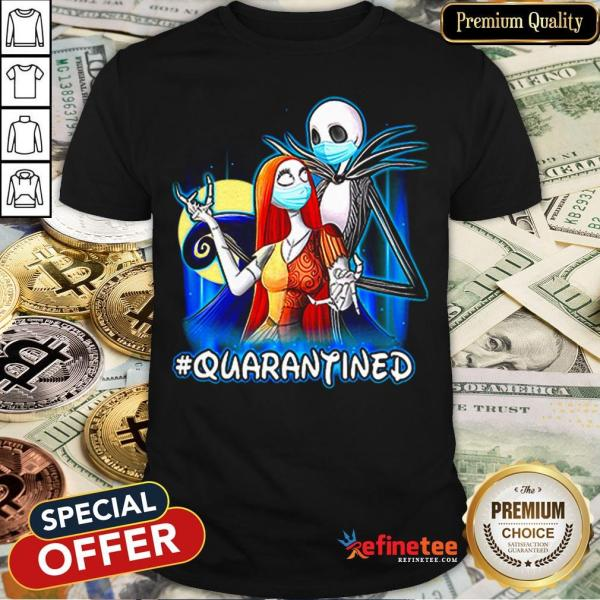 Top Jack And Sally Quarantined Shirt - Design By Refinetee