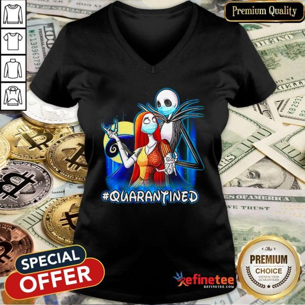 Top Jack And Sally Quarantined V-neck- Design By Refinetee