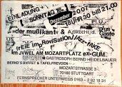 Flyer für Auftritt mit Mußikant 2007