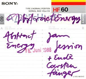 Abstract Energy - Jam Session 16. Juni 1988 C 60 Cassette