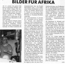 """Artikel zur Aktion """"Bilder für Afrika"""" in ketchup 05-88"""