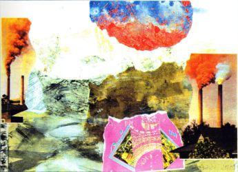 """""""Das Goldene Prag"""" - Mischtechnik, Collage"""