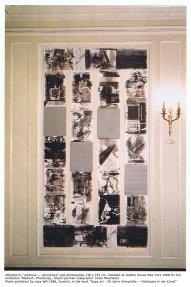 """""""erotique - neurotique"""", im Goethe-House New York 1988, veröffentlicht durch Copy left im Buch """"Copy art - 50 Jahre Xerografie - Fotokopie in der Kunst"""", 1988, Foto: Georg Mühleck"""