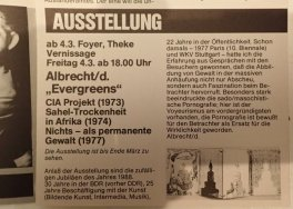 Ankündigungstext im Programmheft Theaterhaus Stuttgart 1988