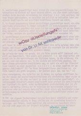 Wozu Ausstellungen Textseite (Auszug), reflection press Nr. 35, Sammlung Decker
