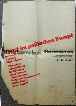 Plakat Kunst im politischen Kampf 1973