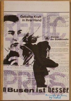 Heft mit Bundeswehr-Werbung / Copy-Collage, Sammlung Decker