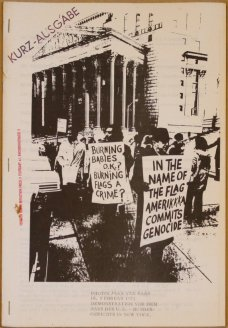 Heft zum Prozess Ringgold Toche Hendricks (wg. Flaggenentweihung in den USA) 1971, Sammlung Decker