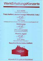 Flyer für die WerkErhaltungsKonzerte 1988