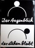"""""""Der Augenblick der stehen bleibt"""", Harlekin Art & Fluxeum Wiesbaden 1991, mit """"Künstlerbriefmarken"""" Sammlung Franke"""