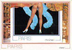 Postkarte, Collage, Paris 1988