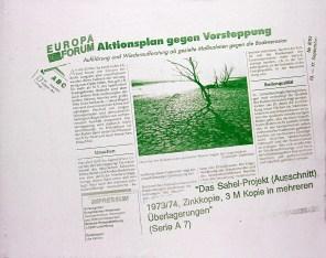 """Seite zum Sahel-Projekt. Abbildung aus """"Mein Fotoalbum"""", Galerie Minotaura 1994, Sammlung Georg Mühleck"""